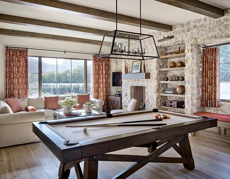 Luxury Game Room in Custom Home in Arizona